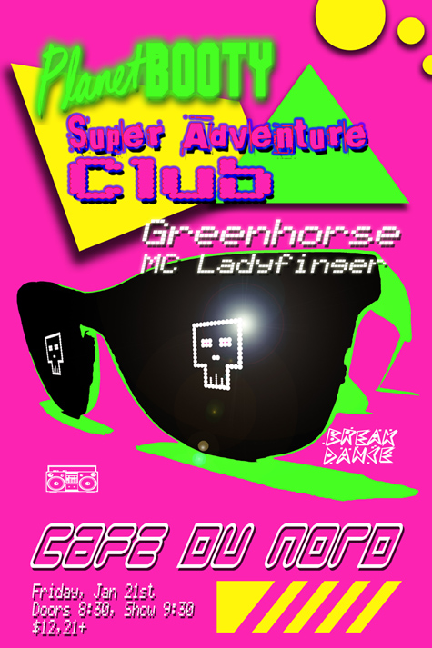 Super Adventure Club plays Cafe Du Nord on Friday Jan 21!